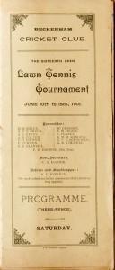 Beckenham-1901-programme