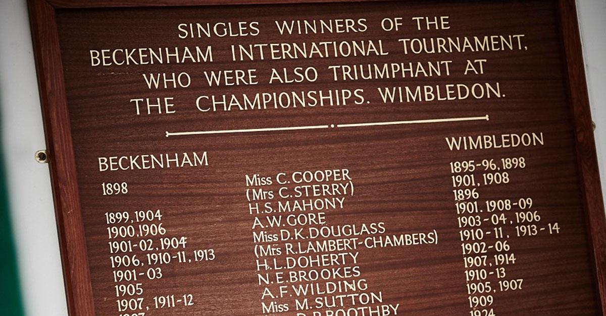 Tennis-Honours-Beckenham-Wimbledon